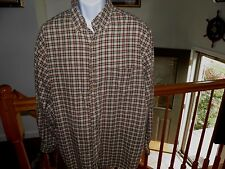 ABERCROMBIE & FITCH 90% Cotton ~ 10% Wool Button Front Shirt Mens Sz M Plaid