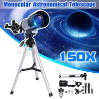150X 70MM Refraktor Teleskop Reise Astronomie Fernrohr mit Stativ  J