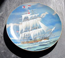 """Danbury Mint Plate Great American Sailing Ships Clasic Rose """"The Columbia"""" Le"""