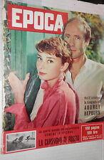 EPOCA 23 giugno 1957 Audrey Hepburn Nencini Alluvione in Piemonte Verona Calcio
