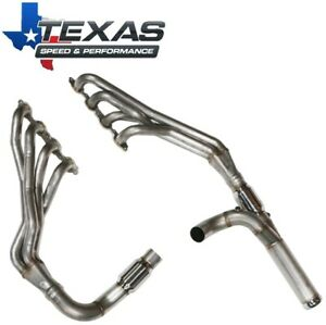 "Texas Speed 2014+ GM Truck 6.2L 1-7/8"" Stainless Long Tube Headers Catted Y-Pipe"