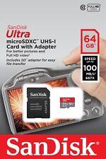SanDisk 64GB Ultra 667x 100MB/s Class 10 A1 Micro SD SDXC Speicherkarte NEU