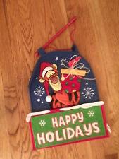 Happy Holidays Tigger Door/Wall Hanging Christmas Winnie the Pooh Disney