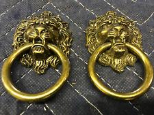 Lion Head Drop Handle Drawer Pulls / Dresser Knobs / Furniture Hardware - 2