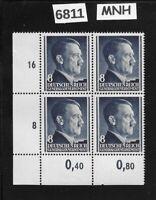 MNH Third Reich Stamp block ScN78 / Hitler & WWII Emblem  8 GR  Occupied Poland
