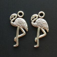 20x Retro crane Tibetan Silver animal Pendant/charms bracelet Jewelry Accessorie