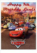 Disney Cars Lightning McQueen  Rice Paper Birthday Cake Topper!