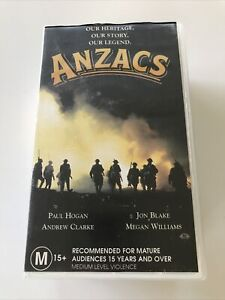 ANZACS VHS 3 Tape Box Set Paul Hogan Jon Blake Andrew Clarke WW1 TV series