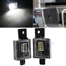 LED License Plate Light White Lamp For GMC Sierra 1500 2500HD 3500HD 2015-2018
