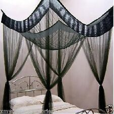 Black Gem 4 Poster  Mosquito Net Bed Canopy - Dble/Queen BED