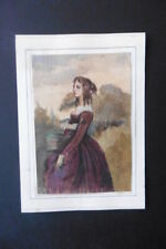 FRENCH SCHOOL 19thC - PORTRAIT OF A LADY - SUBTILE WATERCOLOR