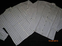 New Striped Long Sleeve Men's Shirt 100% Cotton Sizes Large and Xlarge