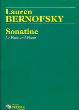 """""""SONATINE"""" FLUTE AND PIANO MUSIC BOOK BRAND NEW ON SALE 30% OFF BY L.BERNOFSKY"""