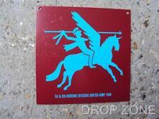 Militare Inglese Airborne Divisione Pegasus Para Targa Di Metallo / Firmare