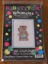 Kidstitch Whimsies Beginner Cross Stitch Kit ~ Cat Cuddles New