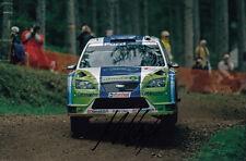 Mikko Hirvonen mano firmado Bp Ford Rally Mundial Foto De Equipo 12x8.
