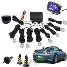 8 Parking Sensors Lcd Car Reverse Rear Radar Buzzer System Alert Alarm Kit Us