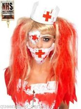 NURSE ZOMBIE KIT Bloody Headband Hat Mask Eyepatch Halloween Scary Costume Party