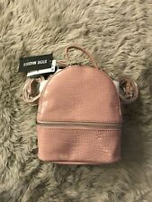 NWT Steve Madden ICY CROCO MINI BACKPACK