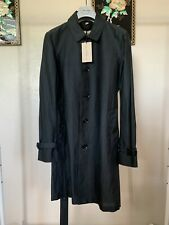 """New Burberry London """"Norwich"""" Linen Silk Trench Car Top Coat - Size IT 46 US 36"""