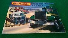 MATCHBOX COLLECTORS CATALOGUE 1982/83 UK  EDITION EXCELLENT CONDITION