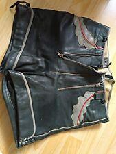 alte kurze Lederhose von Haelson, Tracht, Vintage, vermutl. 60er Jahre, Größe 40