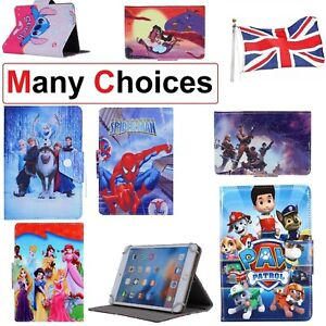 """Case For Fusion5 104 10.1"""" ~ Kids Leather Protective Disney Standup Tablet Cover"""