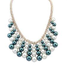 Natürliche Modeschmuck-Halsketten aus Perlen