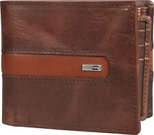 BILLABONG MENS WALLET.D BAH REAL LEATHER BROWN RFID PROTECT MONEY PURSE 8W 2 92