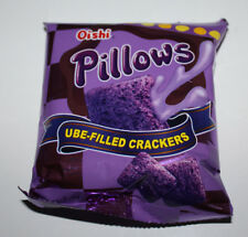 Oishi Pillows Ube-Filled Crackers Pack of 12  1.34 Oz A Pack
