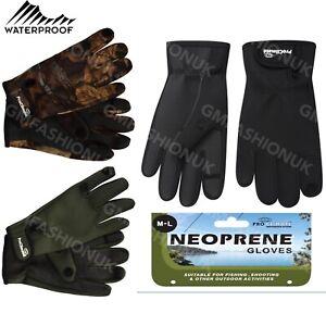 Waterproof Neoprene Fishing Hunting Shooting Gloves Rubber Grips Folding Fingers