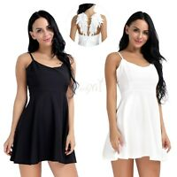 Sexy Women Evening Party Short Mini Dress Flared Summer Cocktail Sleeveless