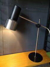 Vintage Prova Italian Adjustable Desk Lamp Black Chrome & Brushed Steel
