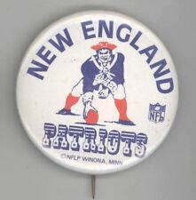 1980s NEW ENGLAND PATRIOTS NFL Football PIN Button PINBACK Badge FOXBORO Mass MA