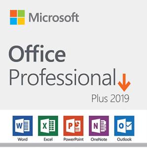 DVD Microsoft Office 2019 Professional Plus | Retail Product Key 1 PC Lifetime