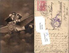 381743,Verkehr Luftfahrt Aviatik Flugzeug Paar verliebter Blick