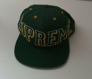 Very rare FW13 Supreme Starter Banner green 5-panel hat cap A$AP ROCKY
