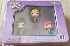 Funko Pocket Pop Tin Disney Princess Belle, Tinkerbell & Ariel Sealed Tin Minis