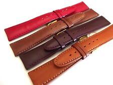 cinturini made in italy pelle imbottiti fibbia gold 16 18 20mm top quality strap