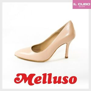 MELLUSO DECOLLETE' SCARPA DONNA PELLE COLORE CIPRIA  H 9 CM SHOES MADE IN ITALY
