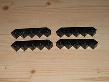 Lego 2339  4 x Bogenstein Rundstein schwarz 4730 10000 6071 6077 6066 6292 6278