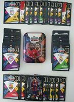 2020/21 Match Attax Mini Tin + 100 cards (no doubles) 20 shiny inc Messi Limited