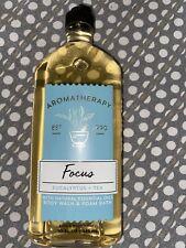 New Bath Body Works Focus Eucalyptus + Tea 10oz Wash & Foam Bath