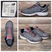 New Balance Lonoke MTLONLT1 All Terrain Gray Red Athletic Shoes Mens Size 12 M