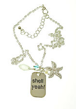 Shell Yeah! Silver Tone Necklace 16 inch Chain