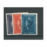 Suriname  187-189 Wilhelmina VFU/gebr  CV 4,5 €