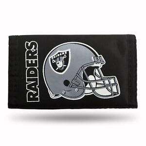 Oakland Raiders  Nylon Trifold Wallet