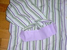 TAILORBYRD  White/Purple/Lime Striped Long Sleeve Shirt Contrast Cuffs Mens 2XL