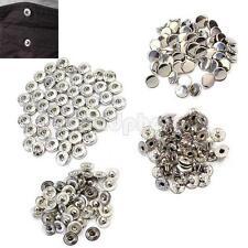 50 X 10mm Retro Botones Snap Prensa Metal Bronce para DIY Ropa Bolsas Cuero