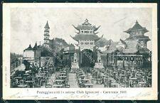 Padova Città Club Ignoranti Carnevale 1903 cartolina QT1565